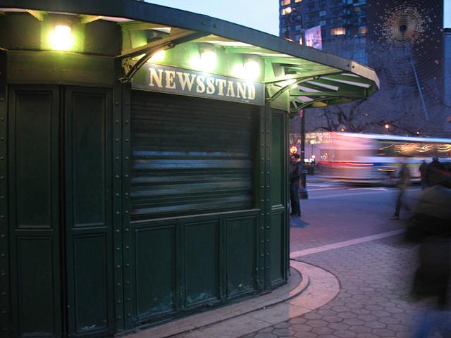 Corner newstand representing newsletter